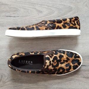 LAUREN Ralph Lauren Leopard Print Slip-on Sneakers